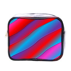 Diagonal Gradient Vivid Color 3d Mini Toiletries Bags by BangZart