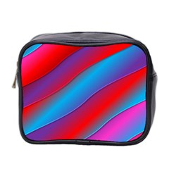 Diagonal Gradient Vivid Color 3d Mini Toiletries Bag 2 Side by BangZart