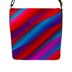 Diagonal Gradient Vivid Color 3d Flap Messenger Bag (l)  by BangZart