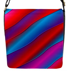 Diagonal Gradient Vivid Color 3d Flap Messenger Bag (s)