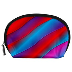 Diagonal Gradient Vivid Color 3d Accessory Pouches (large)  by BangZart