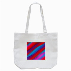 Diagonal Gradient Vivid Color 3d Tote Bag (white) by BangZart