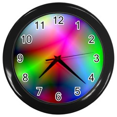 Course Gradient Background Color Wall Clocks (black) by BangZart
