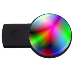 Course Gradient Background Color Usb Flash Drive Round (4 Gb)