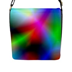 Course Gradient Background Color Flap Messenger Bag (l)  by BangZart