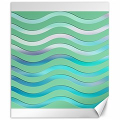 Abstract Digital Waves Background Canvas 20  X 24   by BangZart