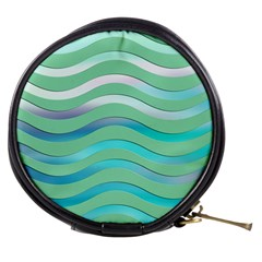 Abstract Digital Waves Background Mini Makeup Bags by BangZart