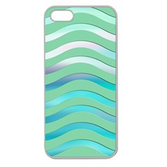 Abstract Digital Waves Background Apple Seamless Iphone 5 Case (clear)