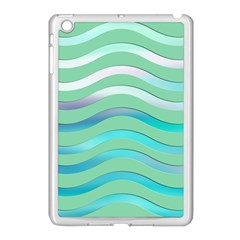 Abstract Digital Waves Background Apple Ipad Mini Case (white)