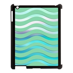 Abstract Digital Waves Background Apple Ipad 3/4 Case (black)