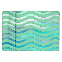 Abstract Digital Waves Background Samsung Galaxy Tab 10 1  P7500 Flip Case
