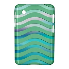 Abstract Digital Waves Background Samsung Galaxy Tab 2 (7 ) P3100 Hardshell Case