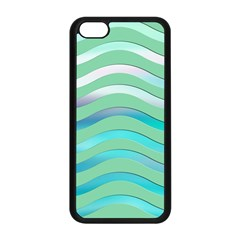 Abstract Digital Waves Background Apple Iphone 5c Seamless Case (black) by BangZart