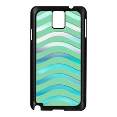 Abstract Digital Waves Background Samsung Galaxy Note 3 N9005 Case (black)