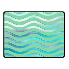 Abstract Digital Waves Background Double Sided Fleece Blanket (small)  by BangZart
