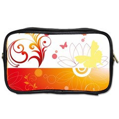 Spring Butterfly Flower Plant Toiletries Bags 2 Side