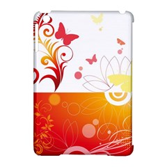 Spring Butterfly Flower Plant Apple Ipad Mini Hardshell Case (compatible With Smart Cover)