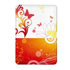 Spring Butterfly Flower Plant Samsung Galaxy Tab 2 (10 1 ) P5100 Hardshell Case