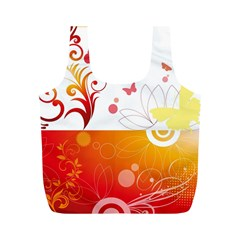 Spring Butterfly Flower Plant Full Print Recycle Bags (m)