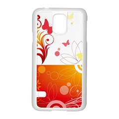 Spring Butterfly Flower Plant Samsung Galaxy S5 Case (white)