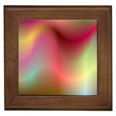 Colorful Colors Wave Gradient Framed Tiles by BangZart