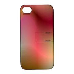 Colorful Colors Wave Gradient Apple Iphone 4/4s Hardshell Case With Stand by BangZart