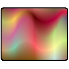 Colorful Colors Wave Gradient Double Sided Fleece Blanket (medium)