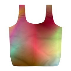 Colorful Colors Wave Gradient Full Print Recycle Bags (l)