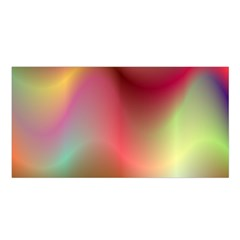 Colorful Colors Wave Gradient Satin Shawl