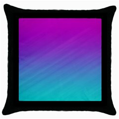 Background Pink Blue Gradient Throw Pillow Case (black) by BangZart