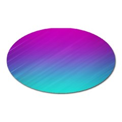 Background Pink Blue Gradient Oval Magnet