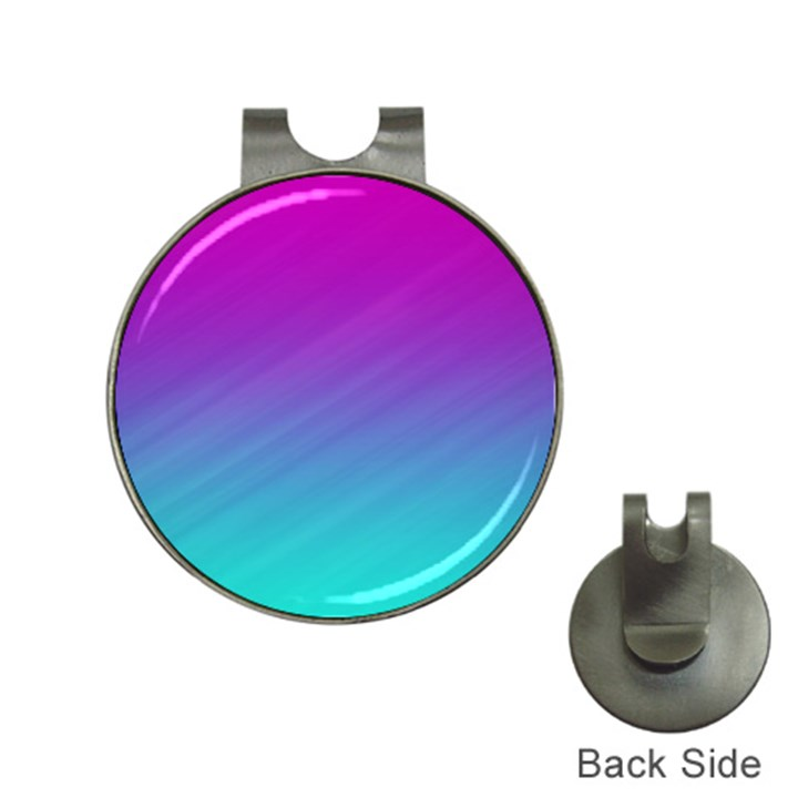 Background Pink Blue Gradient Hat Clips with Golf Markers