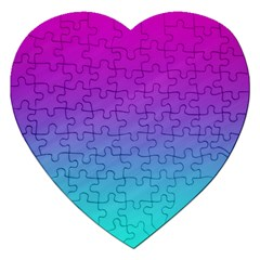 Background Pink Blue Gradient Jigsaw Puzzle (heart)
