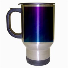 Background Pink Blue Gradient Travel Mug (silver Gray)