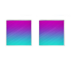 Background Pink Blue Gradient Cufflinks (square) by BangZart