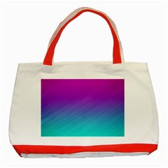 Background Pink Blue Gradient Classic Tote Bag (red) by BangZart