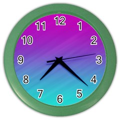 Background Pink Blue Gradient Color Wall Clocks by BangZart