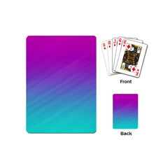 Background Pink Blue Gradient Playing Cards (mini)  by BangZart