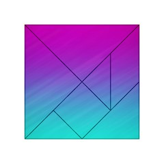 Background Pink Blue Gradient Acrylic Tangram Puzzle (4  X 4 )