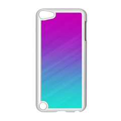 Background Pink Blue Gradient Apple Ipod Touch 5 Case (white)