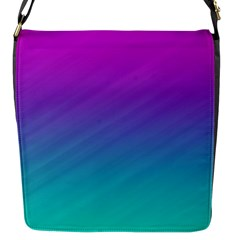 Background Pink Blue Gradient Flap Messenger Bag (s)