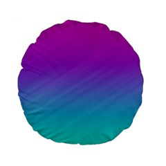Background Pink Blue Gradient Standard 15  Premium Flano Round Cushions by BangZart