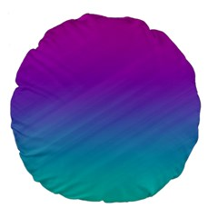 Background Pink Blue Gradient Large 18  Premium Flano Round Cushions by BangZart