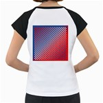 Dots Red White Blue Gradient Women s Cap Sleeve T Back