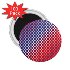 Dots Red White Blue Gradient 2 25  Magnets (100 Pack)