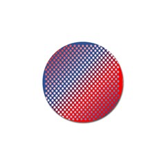 Dots Red White Blue Gradient Golf Ball Marker by BangZart