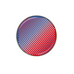 Dots Red White Blue Gradient Hat Clip Ball Marker (4 Pack)