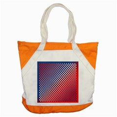 Dots Red White Blue Gradient Accent Tote Bag by BangZart