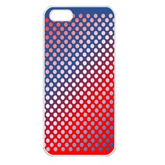 Dots Red White Blue Gradient Apple Iphone 5 Seamless Case (white)