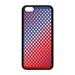 Dots Red White Blue Gradient Apple Iphone 5c Seamless Case (black) by BangZart